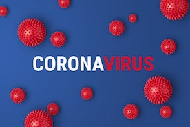 coronavirus cleaning services cover with red coronavirus balls
