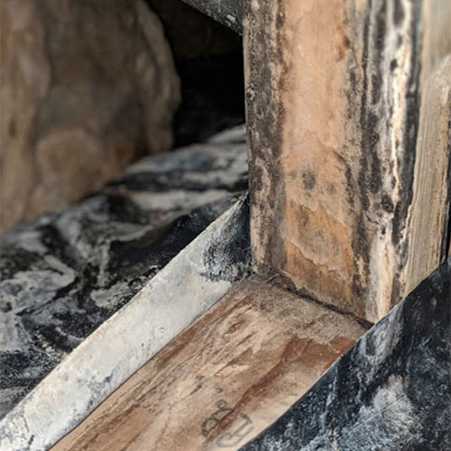 crawl space water has caused mold on the Boise home footer and needs to have mold damage restoration
