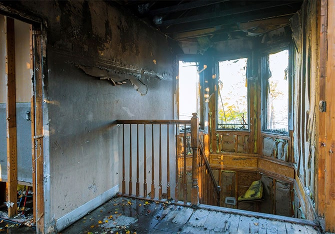 House that was burned in a fire that needs professional fire restoration in Boise Idaho