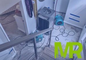 Water damage restoration needed in a basement due to flooding