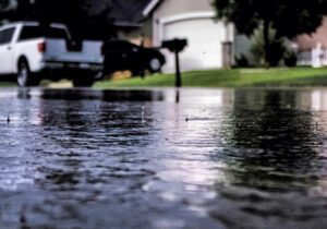 Flash flood from excessive rain in Meridian Idaho that could cause mold damage in your home