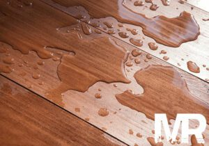Water damaged hardwood floors needing water damage restoration in Boise Idaho
