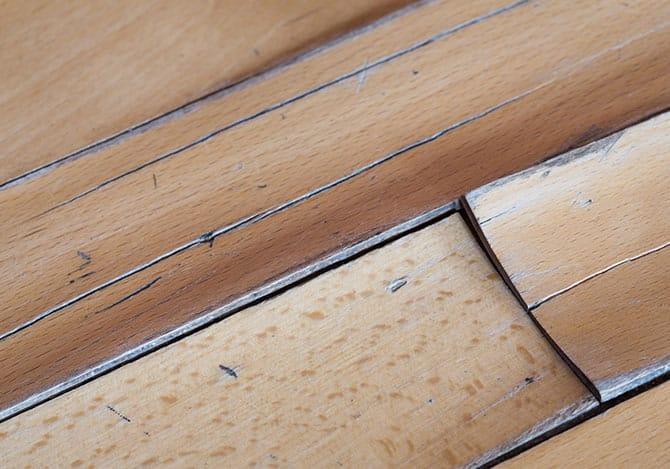 Hardwood floors buckling from water damage
