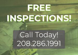 Crawl space with free inspections words over the image